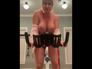 Topless exercise...