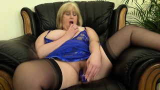 Hot Filthy Step Mom can't resist poking her wet pussy with powerful vibe.