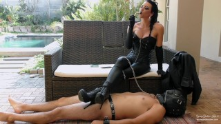 Ashtray for the Leather Goddess - Female Domination Preview - Young Goddess Kim