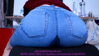 WET JEAN GIRL FARTS IN YOUR FACE GURGLY peteuse