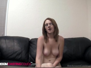 Geeky 4 Eyed Teen Morgan Gets Her Ass Pussy & Mouth Fucked In Interview! free pormo