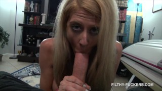 MILF Lux Libson Catches Step-Son Watching Her Deepthroat a Dildo - Uses His Cock Instead 4K