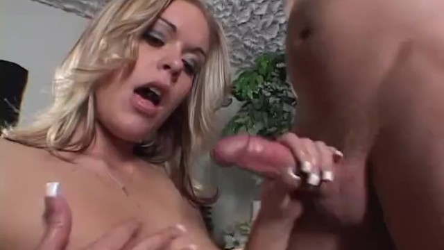 Horny Blonde Milf Get Tit Cum Covered by Step Sons Big Cock 7