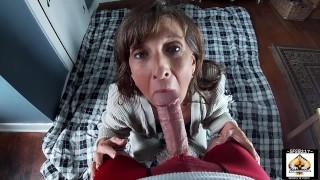 Hot Granny Pleases A Big Thick Cock