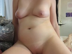 Step Mom Sucks And Fucks Son For A Dripping Creampie After Watching Porn Together On a Movie Night