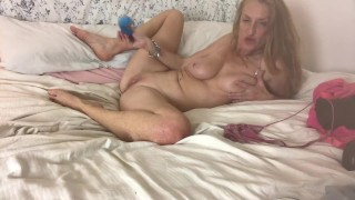RubyRokkit plays with her toys in her bedroom