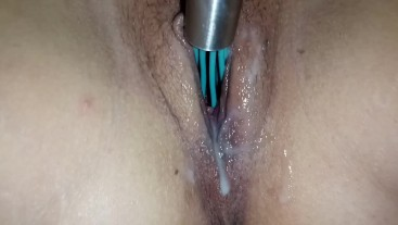 stepsister wanted me to stick a whisk in her to see if she can make creamy grool