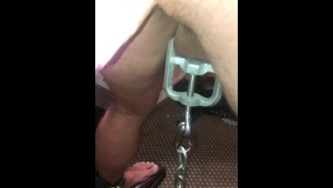 Fucked – Fuck Machine and edged – all restrained. The Blackpool Playroom, The Cell and The Playroom