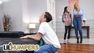 LIL humpers - Hot Busty Blonde Amber Alena Found A Big Cock Fucked Play