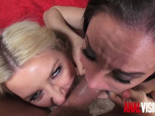 Anal visions threesome anikka albrite...