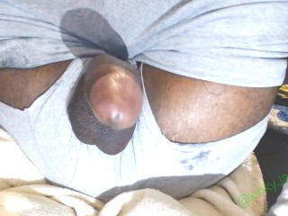 Gay jamaican getting some cum out...