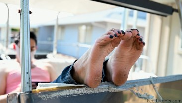 Pretty Girly Feet Outside For All To See