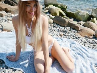 Young stranger made public beach...