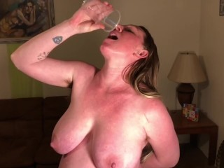 9 wife gargle and swallow squirt in cup...