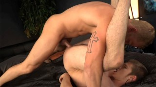"Corbin Fisher - ""Hellproof"" bad boy Tom barebacks Jordan"