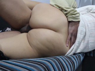 Romance CREAMPIE in the couch. WITHOUT CONDOM