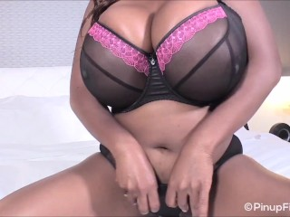 See Maseratixxx invites you in bed to touch and feel her huge tits