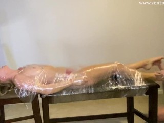 Harley Mummified and Feet Tickled – Zen Tickling Preview