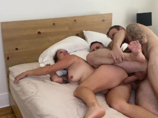 Mmf with real life couple christian wilde...