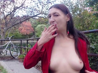 INHALE 48 Smoking & Nudity in Public by Gypsy Dolores/ Parc LaFontaine, Montreal