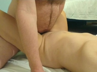 Hotel fun with a Latina milf with big tits from the room opposite