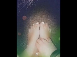 Spooky fun with pinkies feet...