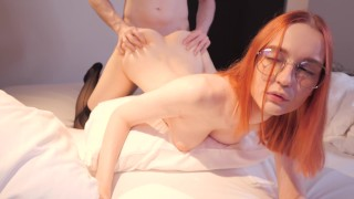 Redhead Schoolgirl Fucks With Her Classmate After Classes