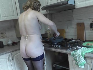Naked cooking cooking milf dubarry ass hairy pussy...