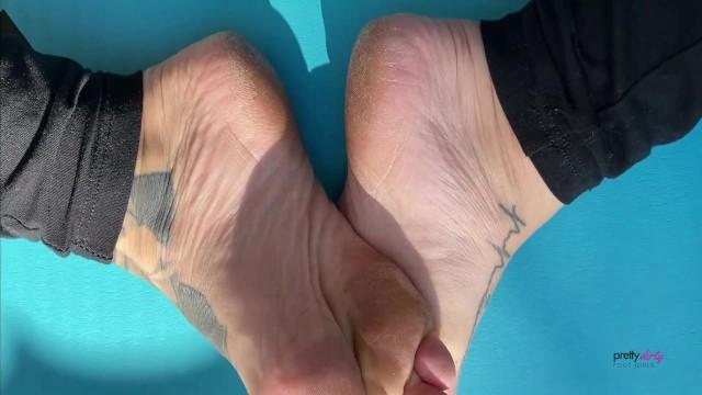 Sweaty Small Feet Foot Play On Yoga Mat Trailer 24