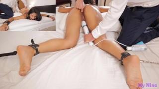 Tied Up Vibrator Orgasm