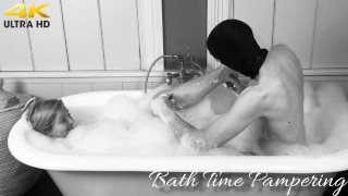 Bath time pampering for Lady Dalia and a golden reward for slave!