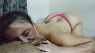 DOUGandPATTI - A Suckumbus attacked my cock!!! Milk flows and she doesn't waste a drop...