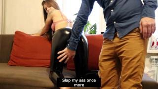 Cuckold roleplay Boss fucks my wife Watch full premium Cumshot