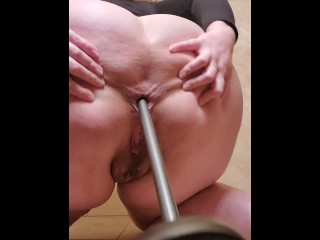 Bbw pawg with found object at work...