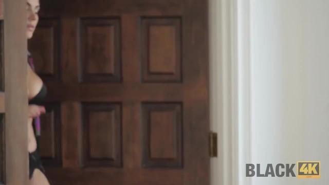 BLACK4K. House arrest cant prevent the slut from having interracial sex 8