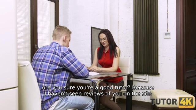 TUTOR4K. Man called mentor because he knew she worked as prostitute before 13