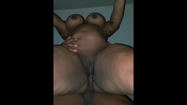 Black BBW milf with hanging tits. Doggystyle Underneath POV 17