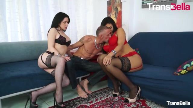 TransBella - Ingrid Moreira Sexy Brazilian Shemale Anal Threesome With Horny Slut 2