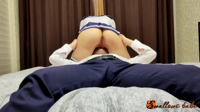 The schoolgirl put her teacher on the bed and let him lick her pussy 10