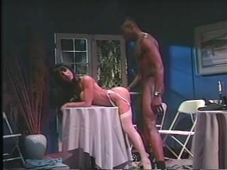 Vintage porn video mature brunette woman gets analed...