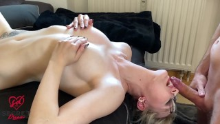 GERMAN blonde HARDCORE in the THROAT FUCKED - Deepthroat - Licking pussy - Cum on the face
