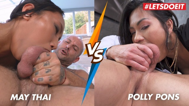 May Thai VS Polly Pons - Rough Asian Anal And Deepthroat! Who Does Is Bette ...