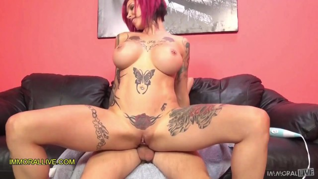 ANNA BELL PEAKS GUSHES LIKE A GEYSER! - PERFECT BODY TATTOOED MILF SQUIRTS HER SWEET NECTAR - Part 3