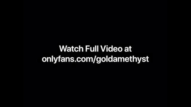 Gold Amethyst cums in shower scene 10