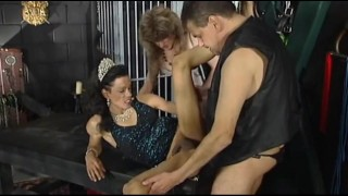 Hardcore sex in a dungeon with tranny