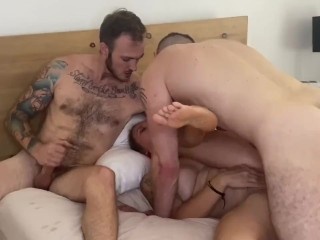 Christian Wilde and Bella Wilde's first bi threesome with Wolf Hudson!