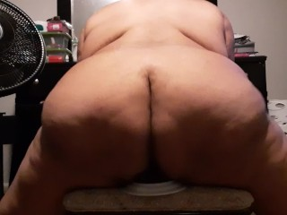Bounces that fat massive ass toy with ease...