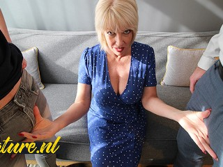 British Mom Didn't Expect To Get Double Penetrated by 2 Big Dicks