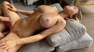 Blonde Teen with Big Tits Has Afternoon Fuck & Real Orgasm