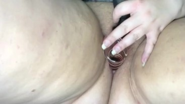 FAT WET BBW PUSSY TOY PLAY